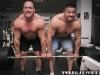 Маланичев Андрей и Кокляев Михаил, тренировка, пауэрлифтинг